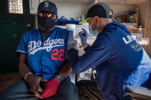 LifeLong Medical Care's street medicine team has vaccinated 35 people in the park so far.